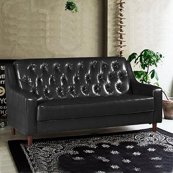 沙發   新上海-百年經典復古三人沙發172cm-三人座皮沙發-$7500-黑色-限量
