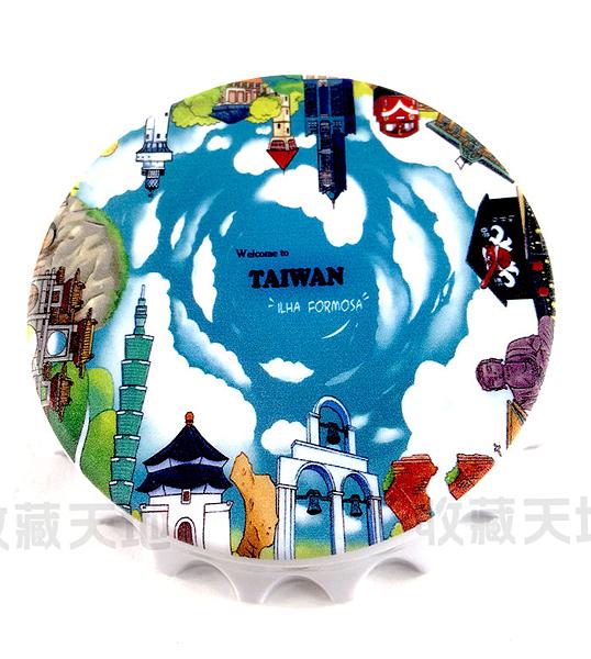【收藏天地】台灣紀念品*開瓶器冰箱貼-台北天空/小物 送禮 文創 風景 觀光  禮品