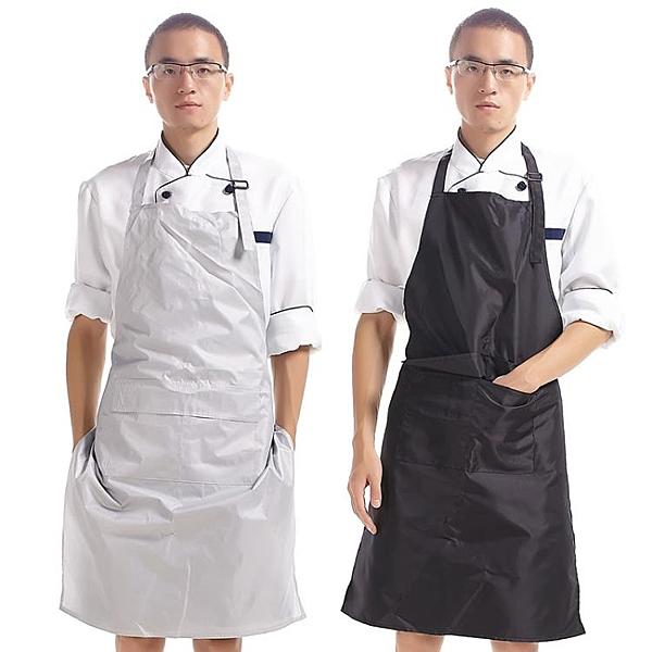 圍裙防水PVC廚房簡約工作服防水防油廚師圍裙