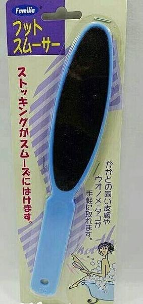 日本製Familia 足部去角質 腳底去角質硬皮 磨砂棒 藍/粉【JE精品美妝】