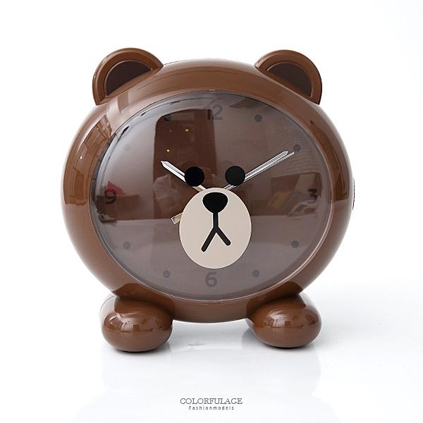 LINE QQ熊大超大頭造型鬧鐘 柒彩年代【NVK13】超人氣商品