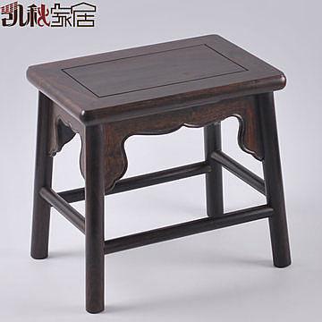 黑檀實木小方凳