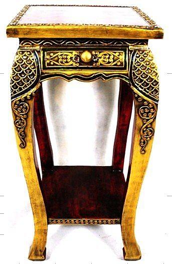東南亞 家居飾品 泰式酒店 會所 木雕 小傢俱 桌子 花架