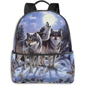 リュック 冬の狼 バックパック ビジネスバッグ PCリュック 防水 大容量 多機能 軽量 遠足 旅行 アウトドア 大学生 中学生 おしゃれ 15.6インチ