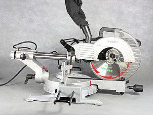 10寸雙滑杆切割機 帶激光送60齒鋸木