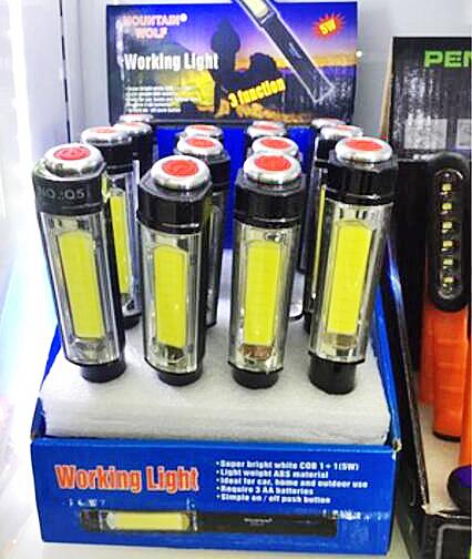 【葉子小舖】高亮手電筒/工作維修燈/戶外緊急照明燈/朔料燈/發光棒/加油棒/螢光棒