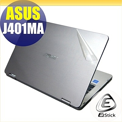 【Ezstick】ASUS J401 J401MA 二代透氣機身保護貼(含上蓋貼、鍵盤週圍貼、底部貼)DIY 包膜