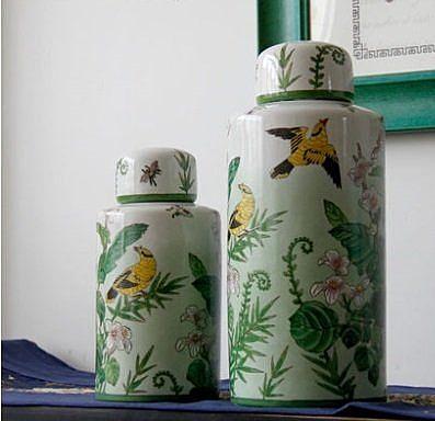 儲物罐圓罐陶瓷裝飾擺件【小】