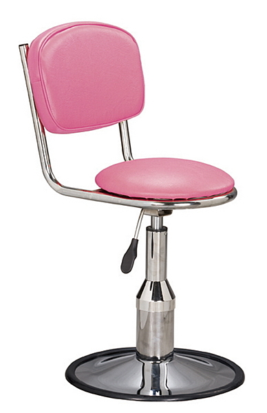 HY-813-4  雅士電金圓盤吧椅/造型椅-粉紅色 / 低