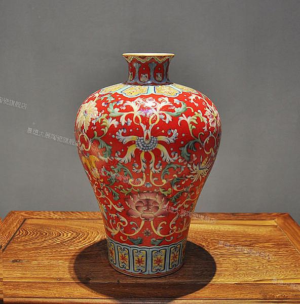 全手工花瓶 複古陶瓷擺件