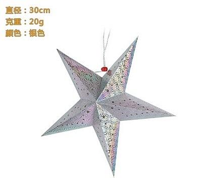 盛泉立體鐳射聖誕五角星燈罩  裝飾 星星 5個價