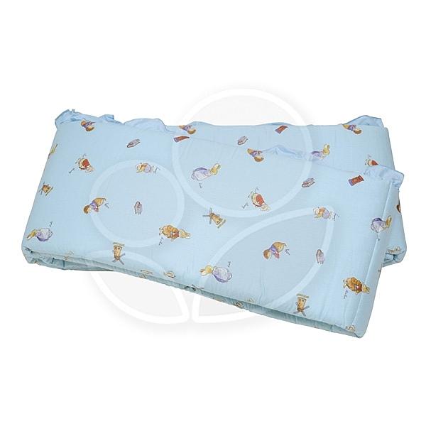 FoxwoodTales 狐狸村傳奇 高級精梳棉床護圈(一般中床適用)藍色【佳兒園婦幼館】