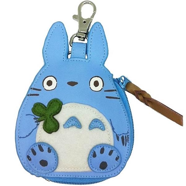龍貓 皮質零錢包 吊飾 鑰匙圈 藍龍貓 TOTORO 宮崎駿 日本正版 該該貝比日本精品