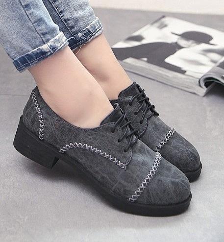 復古小皮鞋