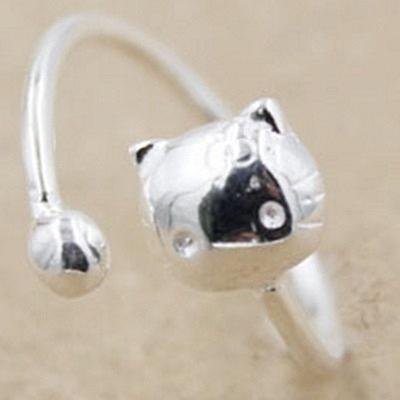 925純銀戒指-生日母親節禮物貓咪造型可愛迷人流行女飾品73ae69【巴黎精品】