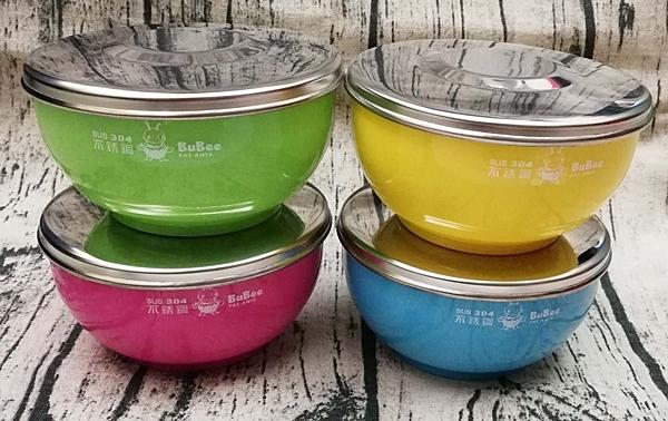 三光 寶石牌小蟻布比 香醇 雙層隔熱碗 (附不鏽鋼蓋+湯匙) 兒童碗 幼稚園碗  304不鏽鋼