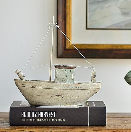 地中海風情木船擺件