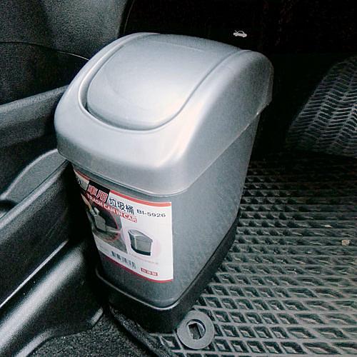 【車用垃圾桶】3L 垃圾筒 固定式 置物桶 汽車用品 置物桶 回收箱 BI-5926 [百貨通]