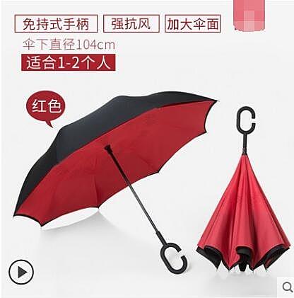 雙層反向傘免持式遮陽防曬