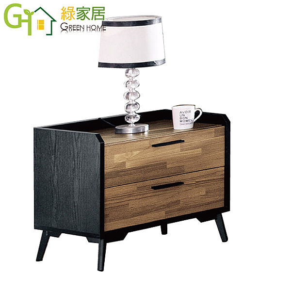 【綠家居】馬魯夫 時尚1.7尺木紋床頭櫃/收納櫃