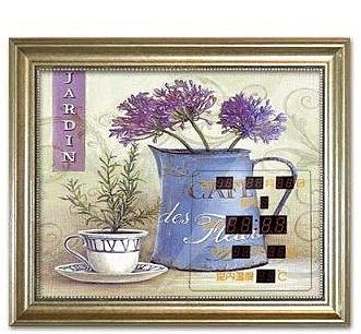 電錶箱裝飾畫鐘錶 帶萬年曆配電箱遮擋掛鐘歐式客廳壁畫 餐廳掛畫-tops0027