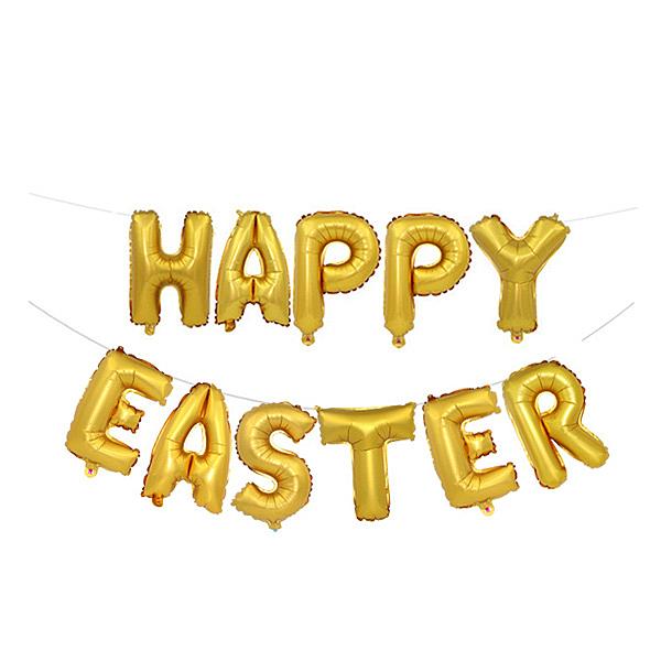 【BlueCat】Happy Easter字母鋁膜氣球 佈置
