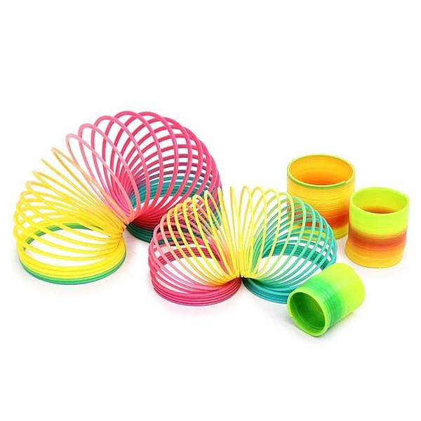 彩虹圈玩具彈簧圈疊疊圈寶寶玩具1-3-6歲益智早教兒童彩虹彈力圈·享家生活館