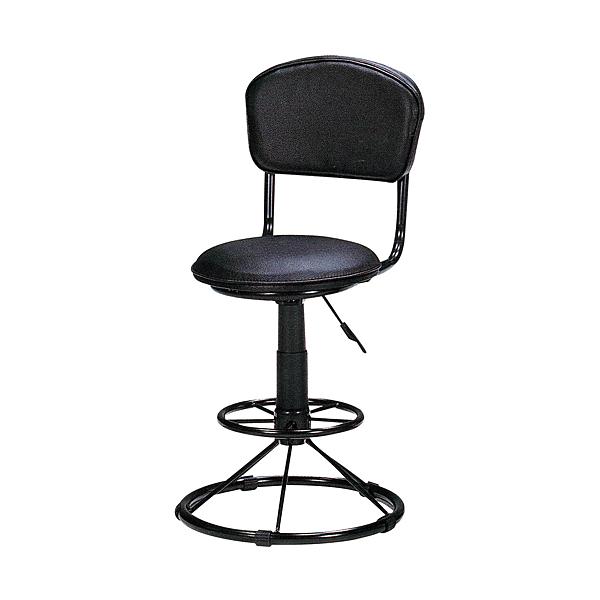 【森可家居】黑色美巧低吧台椅 8SB370-2 商用