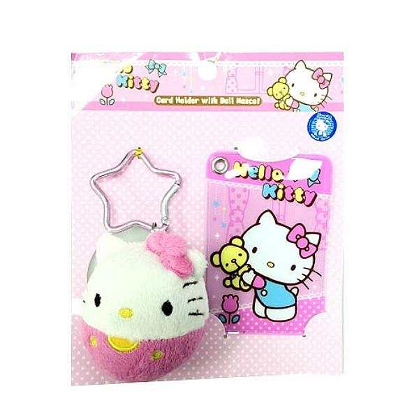【震撼精品百貨】Hello Kitty 凱蒂貓~HELLO KITTY 球型公仔証件套
