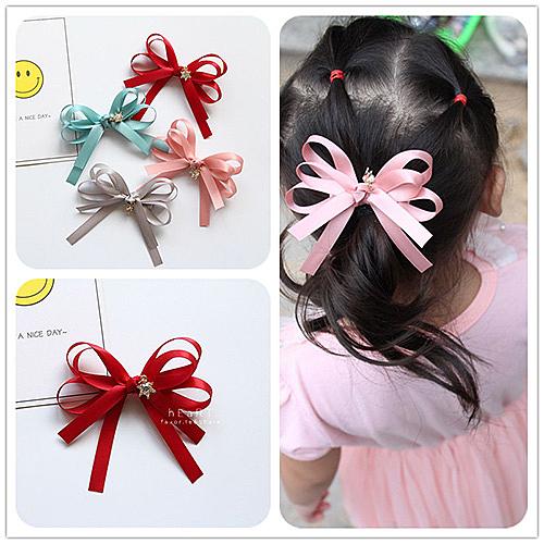 多層次緞帶造型髮夾 髮飾 蝴蝶結 髮夾