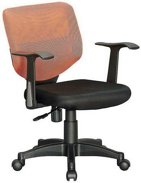 HP363-08 網背椅CS-066/橙網+三明治布墊