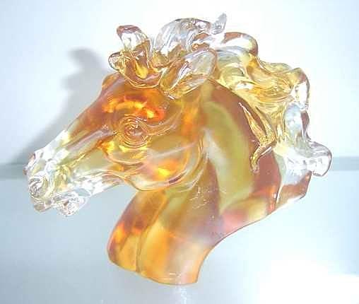 琉璃工藝品擺件*商務禮品*中馬頭*馬到成功 精美禮品 創意