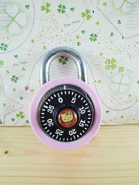 【震撼精品百貨】Hello Kitty 凱蒂貓~密碼鎖-珠寶(圓)粉色