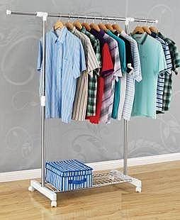 新品單杆折疊晾衣架