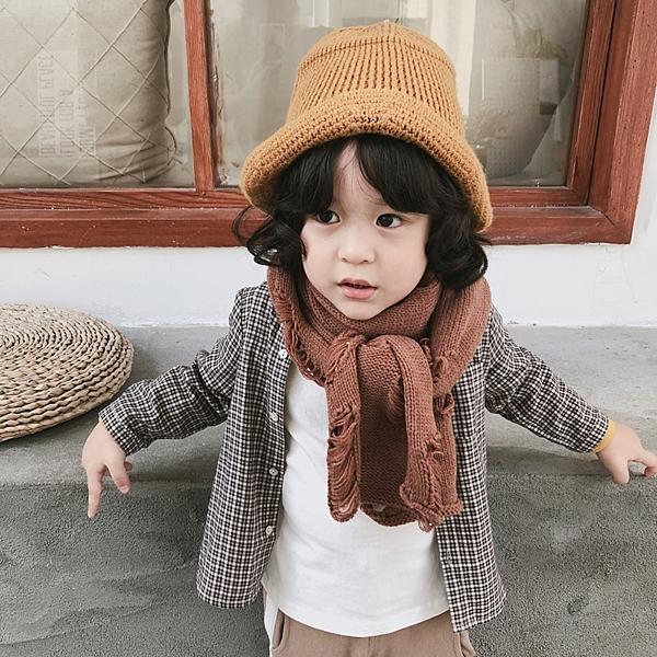 圍巾 兒童 抓破 造型 韓版 針織 保暖 圍脖