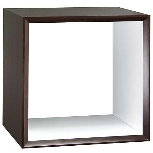 【藝匠】魔術方塊胡桃色小鏤空櫃收納櫃 家具 組合櫃 廚具 收藏 置物櫃 櫃子 小櫃子