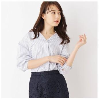 【インデックス/index】 【洗濯機洗いOK】ストライプスキッパーシャツ
