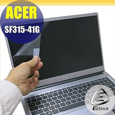 【Ezstick】ACER SF315 SF315-41G 靜電式筆電LCD液晶螢幕貼 (可選鏡面或霧面)