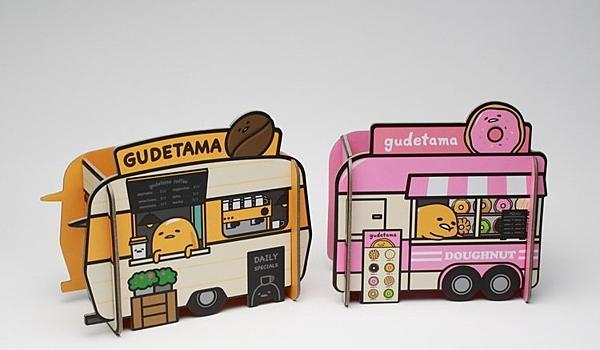 蛋黃哥造型置物架 餐車造型 咖啡 甜甜圈 收納盒 筆筒 【金玉堂文具】