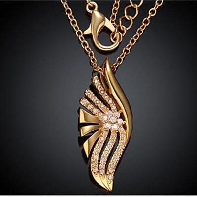 項鍊 玫瑰金純銀 鑲鑽吊墜-閃亮光芒生日情人節禮物女飾品73br119【時尚巴黎】