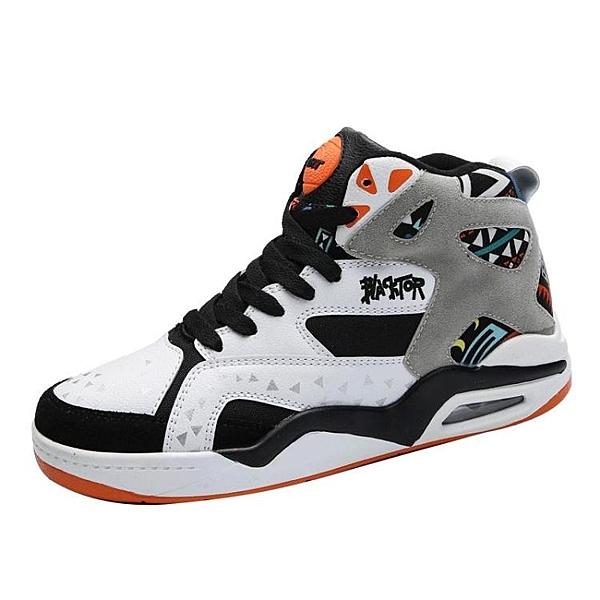 高筒運動鞋子拼色時尚板鞋韓版潮鞋內增高籃球鞋 萬客居