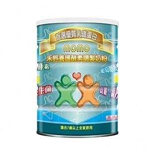 momo 禾野養護酵素調製奶粉 900g(瓶)*12瓶~7歲以上全家用