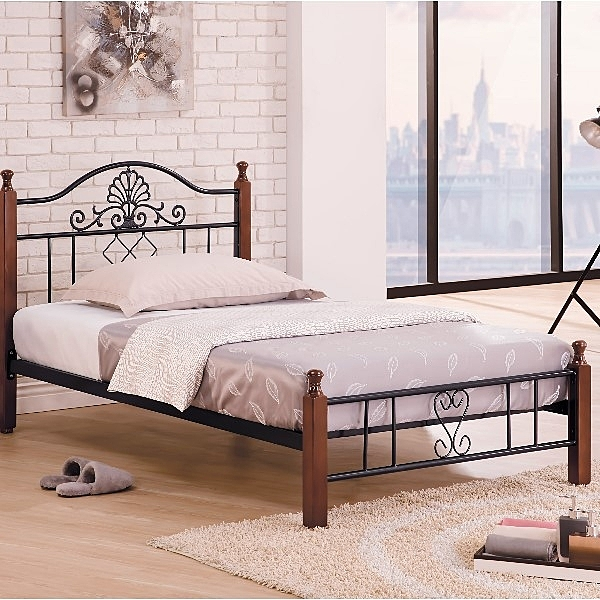 床架 床台 鐵床 TV-182-4 麗莎柚木3.5尺床台 (不含床墊) 【大眾家居舘】