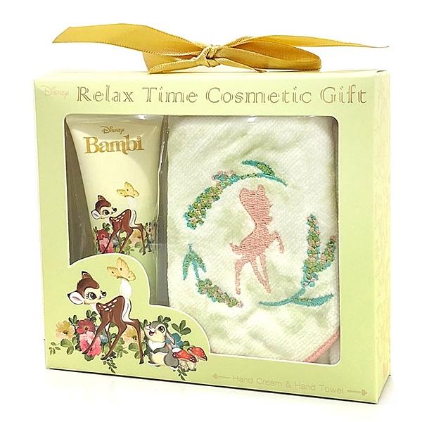 【迪士尼護手霜毛巾禮盒】迪士尼 小鹿斑比 護手霜 毛巾 禮盒 SHO-Bi 日本正版 該該貝比日本精品