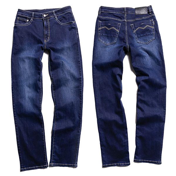 竹炭伸縮直筒褲‧台灣製 【天蠍】(5068-57藍 )