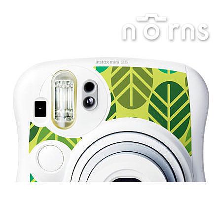 Norns MINI25 專用FUJIFILM日本富士原廠拍立得相機機身貼紙【LEAF款】Norns