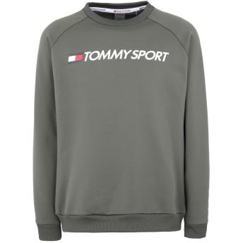 《セール開催中》TOMMY SPORT メンズ スウェットシャツ ミリタリーグリーン S ポリエステル 95% / ポリウレタン 5%