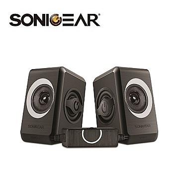 [富廉網] 【Sonic Gear】quatro2 強效低頻振膜 多媒體音箱 黑灰/黑橘/黑紅/黑藍