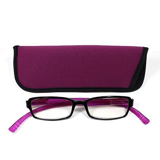 日本專利設計老花眼鏡 Neck Readers (艷彩紫色) 可濾藍光、抗紫外線【S Life 若返生活】
