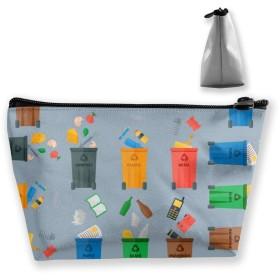 ごみの分別のリサイクル 収納バッグ 小物整理 梯形収納バッグ 収納袋 大容量 多機能ポーチ 化粧品ポーチトラベルポーチ ガジェットポーチ 旅行 グッズ 収納ポーチ